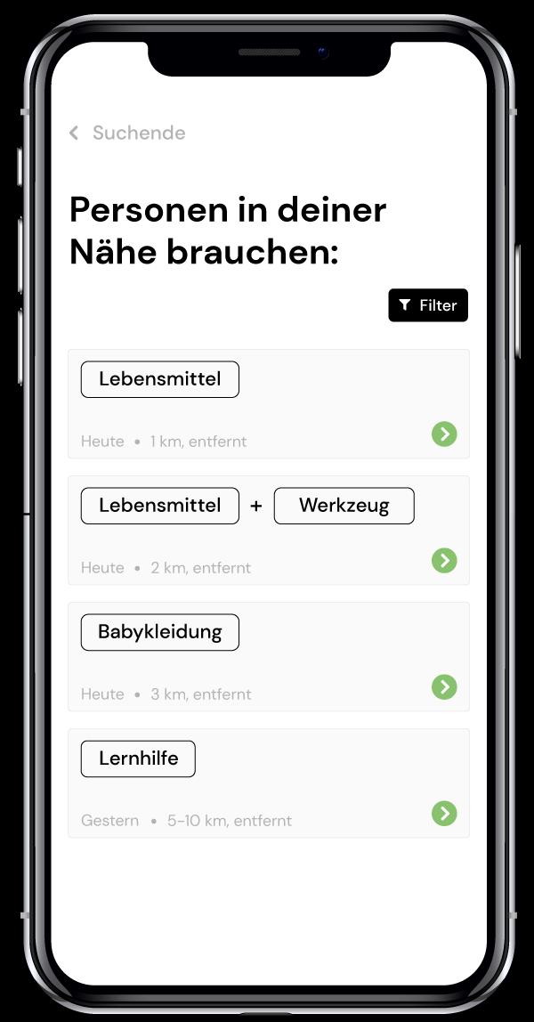 Nachbarschaftshilfe mit der hilfma-App